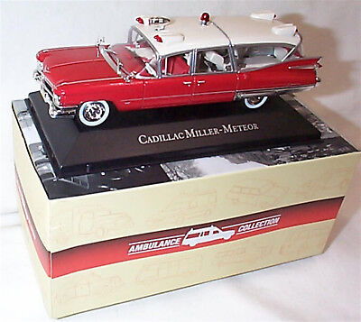 Cadillac Superior Miler Meteor 1:43 SCALE ATLAS 7495002 Ambulance New boxed