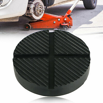 Rubber Cross Slotted Frame Rail Floor Jack Disk Pad for Pinch Weld Side JackPad