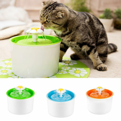 AU Automatic Flower Pet Fountain Free Water Dispenser Drinking Bowl for Cat Dog