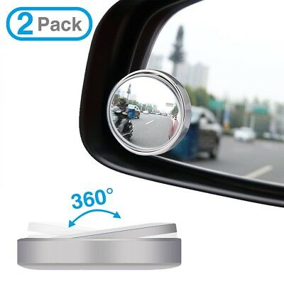 Car Blind Spot Convex Rear View, 2pcs Adjustable Wide Angle Side Mirrors