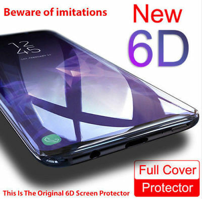 6D Full Cover Tempered Glass Screen Protector Samsung Note 8 Note 9 S9 S8 Plus
