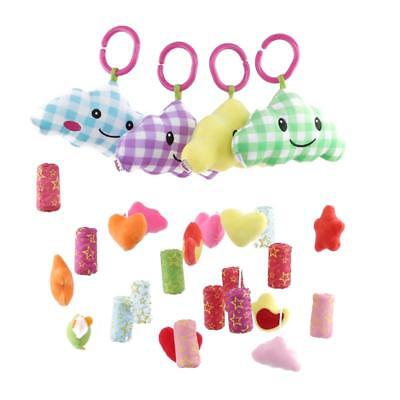Baby Stroller Toys Cloud Moon Shape Wind Chime Hanging Toys for Crib Bed LC