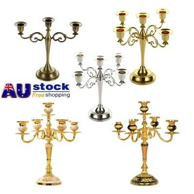 Classic 3/5 Arms Vintage Taper Candle Holder Candelabra For Wedding Holiday Xmas