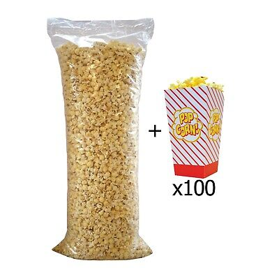Ready Made Popcorn Sweet / Salt / Caramel 3kg + 100 Popcorn Boxes