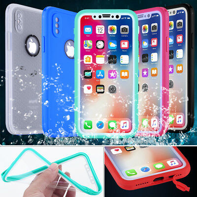 For IPhone XS MAX XR X 8 Plus Waterproof Shockproof Hybrid Rubber TPU Case Cover