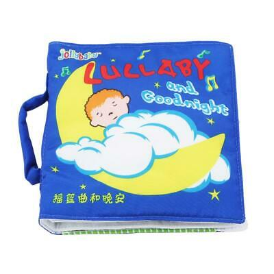 3D Unfold Goodnight Lullaby Soft Cloth Books Rattles Story Early Learning Toy LC