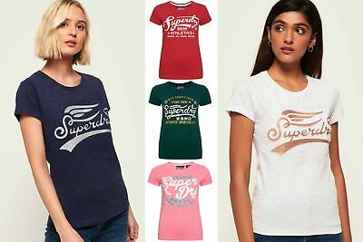 New Womens Superdry Tshirts Selection - Various Styles & Colours 240119