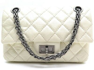 7fc89124c407 Sac A Main Chanel Mini Timeless Cuir Matelasse Ecru 2.55 Bandouliere Purse  3550€