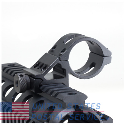 25.4mm 45° Pistol Airsoft Side clamp Mount Picatinny Rail For Scope Hunting New