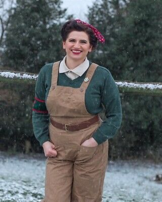 WLA Dungarees, Women's Land Army, reproduction, 1940's, WW2, Wartime, Land Girls