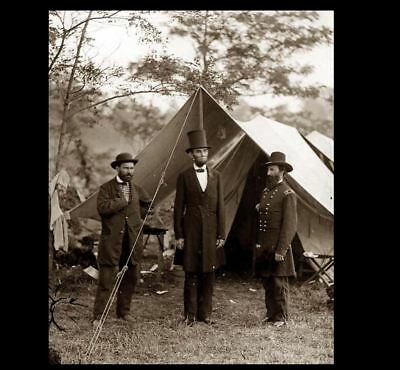 Abraham Lincoln 1862 PHOTO,Battle of Antietam With Allan Pinkerton,Civil War Pic