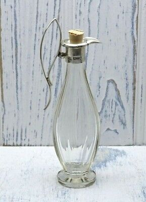 Antique silver topped vinegar bottle, Barker Brothers, Chester hallmark 1911