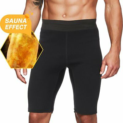 Men's Neoprene Thermo Sweat Sauna Body Shaper Pants Weight Loss Slimming Shorts