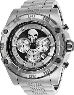 Invicta Marvel Punisher Limited Edition 26863 Mens Silver 52mm Chronograph Watch