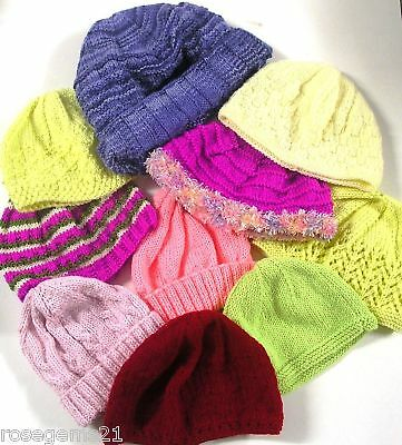 WINTER HATS IN 8 PLY- (10 designs Toddler to Adult) - Knitting Booklet BK18
