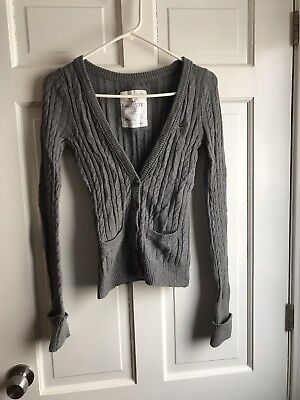 Girls Grey Hollister Cardigan. Great Condition. Size Medium.