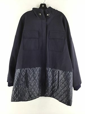 38e4f51f4138 2024C NEW St. John Collection Navy Quilted Stretch Twill Jacket Women s Sz  XL