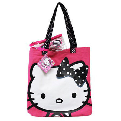 404712d886 Hello Kitty Pink Girls Pool Beach Tote Bag + Sunglasses 100% UV + Pouch NEW