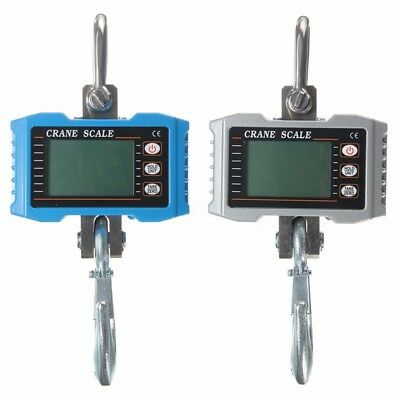 1000kg 1Ton 2000 LBS Aluminum Digital Crane scale Heavy Duty Hanging +
