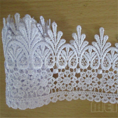 2 Meters White Embroidered Lace Edge Trim Ribbon Wedding Applique Sewing Craft