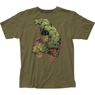 Authentic Marvel Comics The Incredible Hulk Punch adult soft T-shirt S M L XL 2X