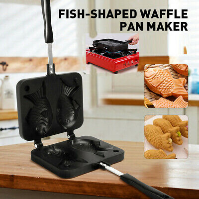 Non-stick Taiyaki Fish-shaped Cake Pan Waffle Bread Party Home Food Maker AU