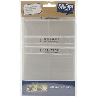 "Sn@p! Pocket Pages For 4""x6"" Binders 12/pkg-horizontal Variety, 5 Designs/2 Each"