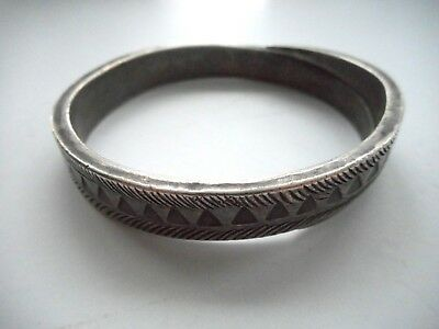 Old Silver Hilltribe Decorated Bracelet Laos / Thailand