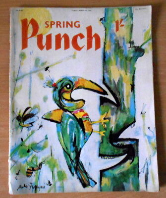 Vintage : PUNCH Magazine : MARCH 1959. features. art. topical. adverts.