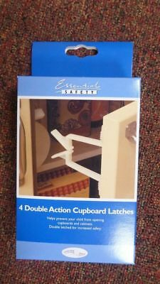 Bnwt 4 X Double Action Cupboard Latches