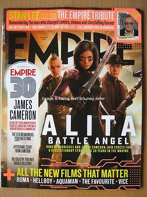 Empire January 2019 Stan Lee Marvel James Cameron Alita Battle Angel Aquaman