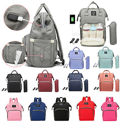 Mummy Maternity Nappy Bag Travel Backpack Baby Care Nursing Diaper Handbag Totes