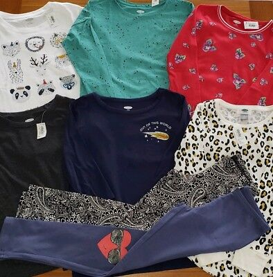Old Navy Girls SIZE 8 Clothing Lot 8 PIECES Long Sleeve Shirts Tops #16-293-19