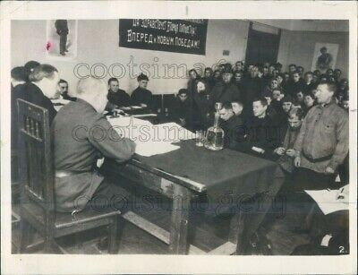 1935 Press Photo People's Court Scene 1930s Kirov Moscow Russia