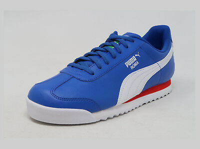 PUMA Roma Basic Jr Royal White Red Lace Up Women Youth Boy Kids Shoes