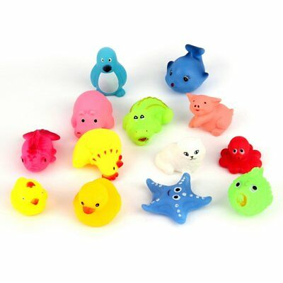 13pcs Different Squeaky Floating Animals Ocean Rubber Baby Bath Bathing Toys WQ