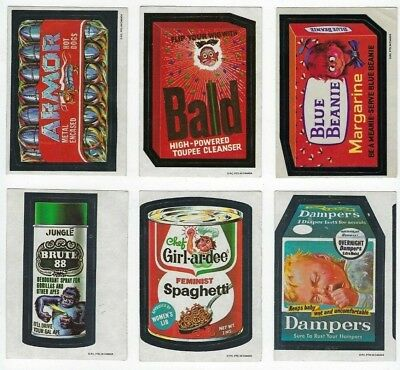 1973 O-Pee-Chee Wacky Packages OPC 4th Series 4 COMPLETE STICKER SET 19/19 tb