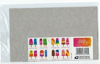 scratch-and-sniff USPS Sealed. 2018 Frozen Treats. Booklet of 20 Forever Stamps.