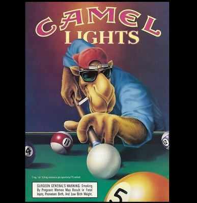 Camel Cigarettes Ad PHOTO Joe Camel Lights Bar Sign Vintage Design Advertisement