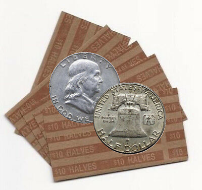 Lot of 20 Collectible Silver Ben Franklin Half-Dollars $10 Face Value (FHD)