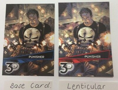 MARVEL 3D LENTICULAR VARIANT CARD plus BASE CARD  (PUNISHER)  2015