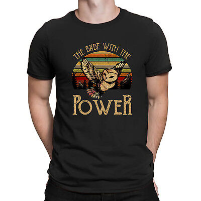 David Bowie Labyrinth The Babe with The Power Vintage Retro Black T Shirt Cotton