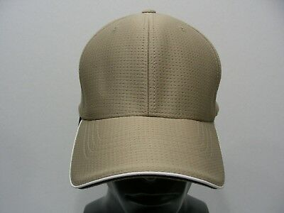 Bay Bank - Tan - One Size Lightweight Polyester Stretch Fit Ball Cap Hat!