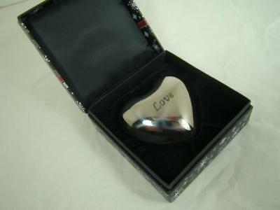 brighton LOVE HEART PAPERWEIGHT  CHIME CHIMES WITH ANY MOVEMENT  NIB VALENTINES