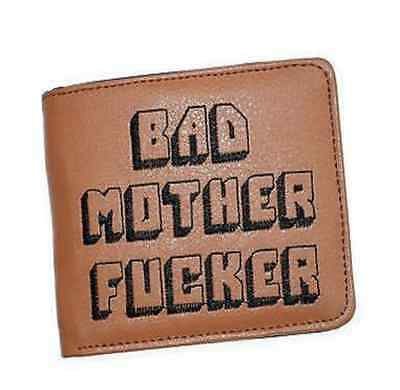 BAD MOTHER WALLET |BMF| Embroidered Black Leather Wallet As Seen In PULP FICTION
