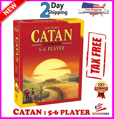 NEW Settlers of Catan Board Game 5th Edition 5-6 Player EXTENSION EXPANSION Pack