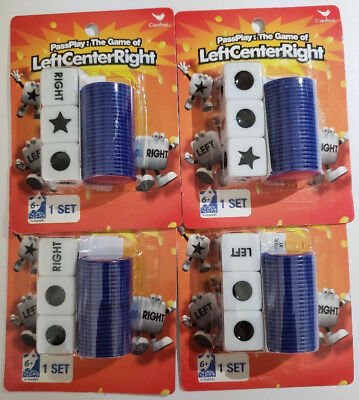 New 4 Pass Play Left Center Right Dice Game, Free Satin Dice Bag & Shipping