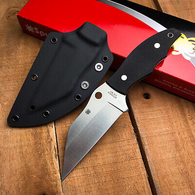 Spyderco Ronin 2 Black G10 Handle CTS-BD1 Fixed Blade Knife FB09GP2