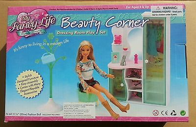 FANCY Life DOLLHOUSE BARBIE FURNITURE BEAUTY CORNER Dressing Closet ROOM PLAYSET