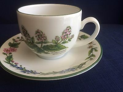 Royal Worcester Worcester Herbs coffee cup & saucer (Peppermint & Bay)